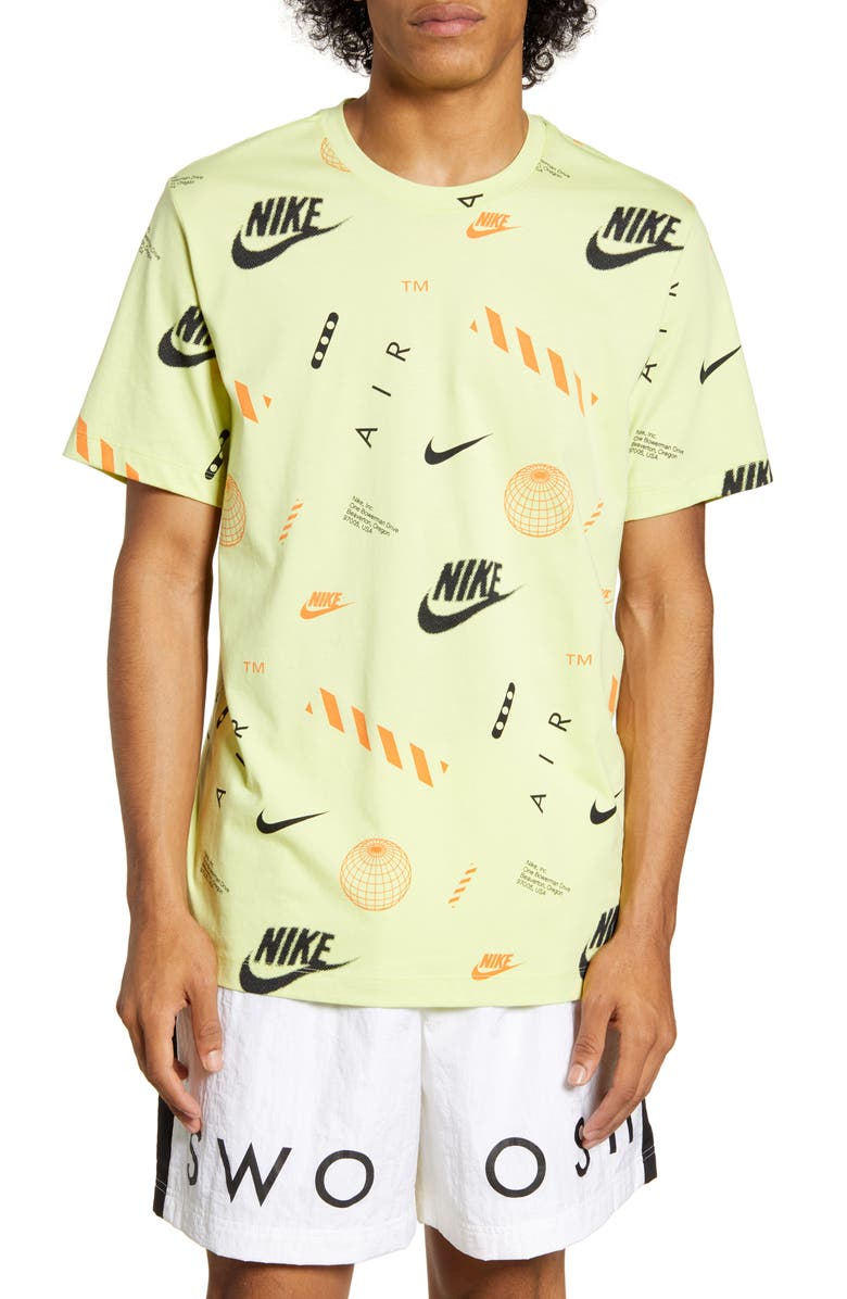 NIKE Logo Graphic Tee, Main, color, LIMELIGHT