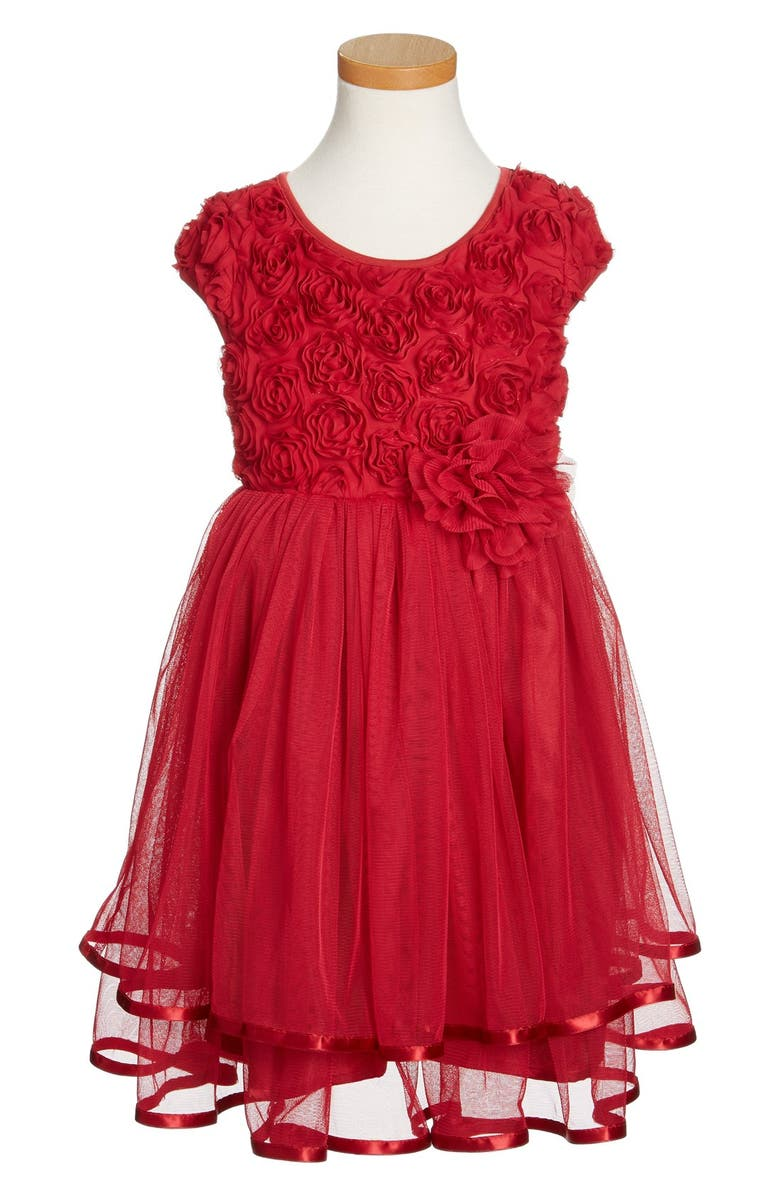 POPATU Ribbon Rosette Tulle Dress, Main, color, 601
