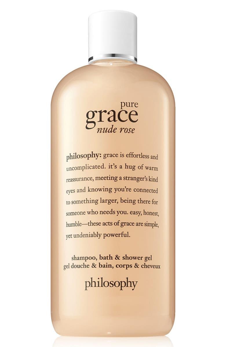 PHILOSOPHY pure grace nude rose shampoo, bath & shower gel, Main, color, NO COLOR