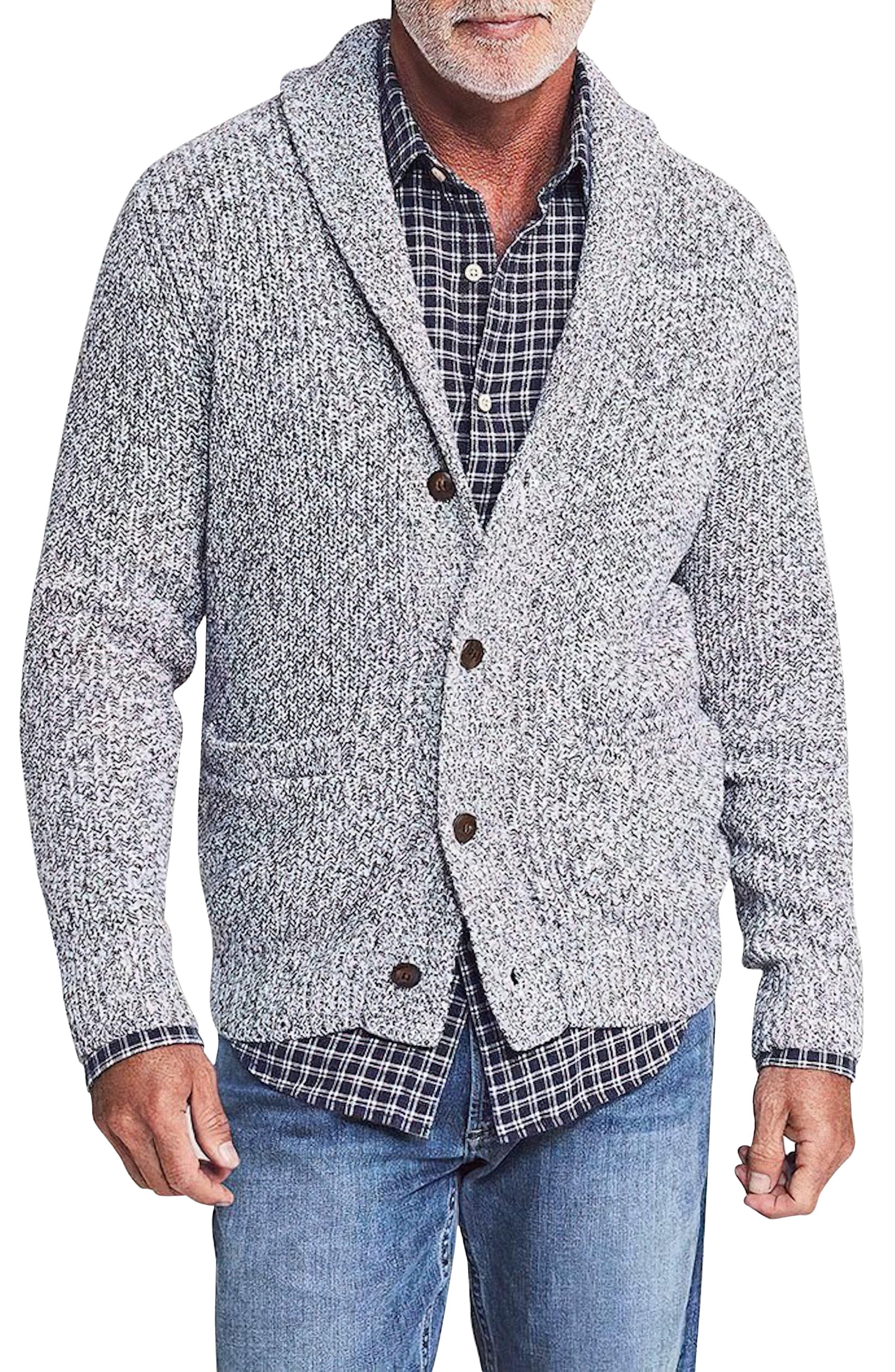 Marled Cotton & Cashmere Cardigan