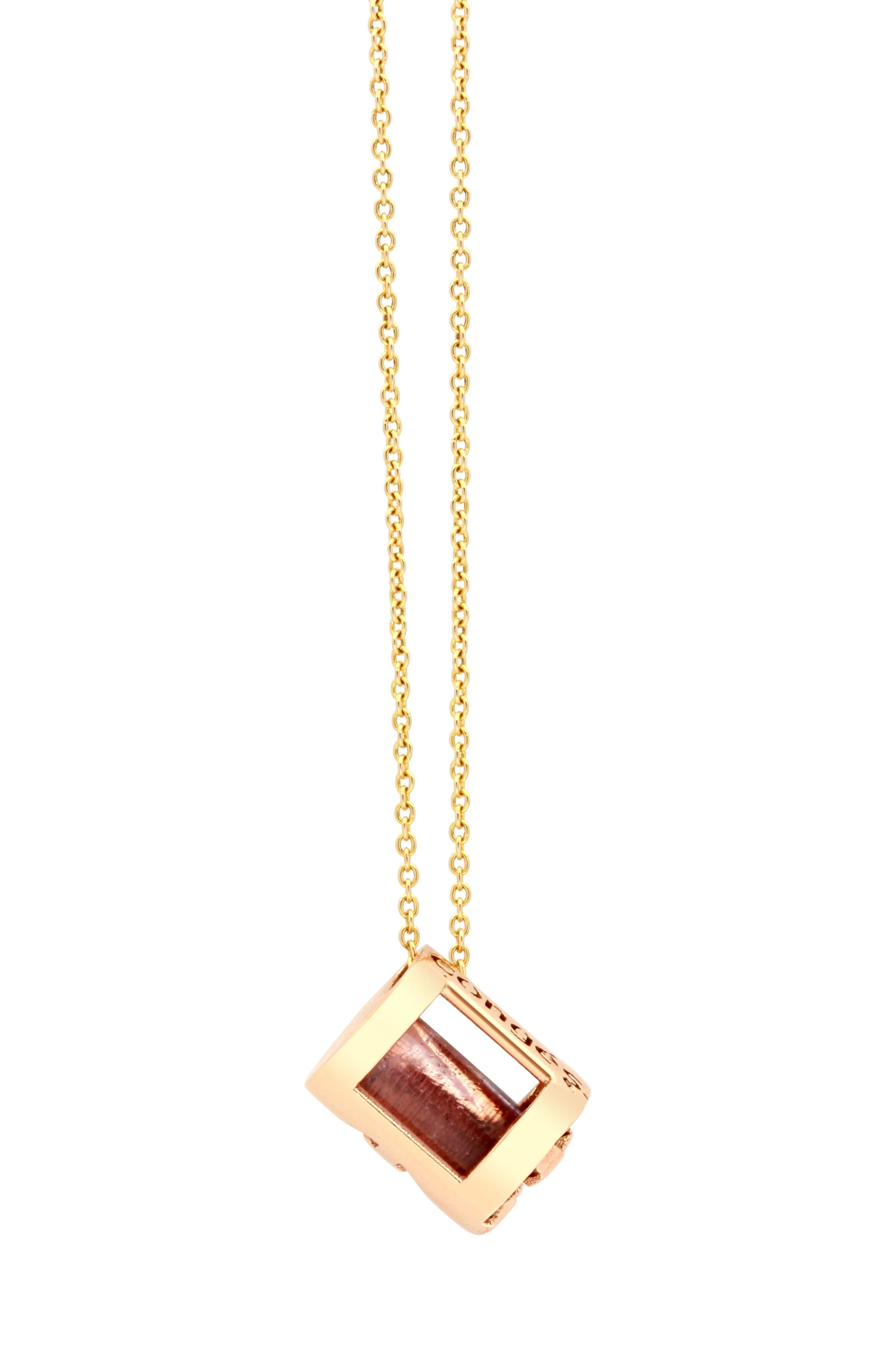 ,                             Peace of Mind Amethyst Barrel Initial Necklace,                             Alternate thumbnail 4, color,                             ROSE GOLD-A