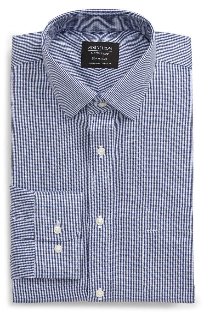 NORDSTROM MEN'S SHOP Smartcare<sup>™</sup> Classic Fit Dress Shirt, Main, color, BLUE DEPTHS