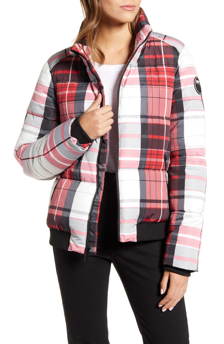 MARC NEW YORK Plaid Puffer Jacket, Main, color, HOLIDAY PLAID