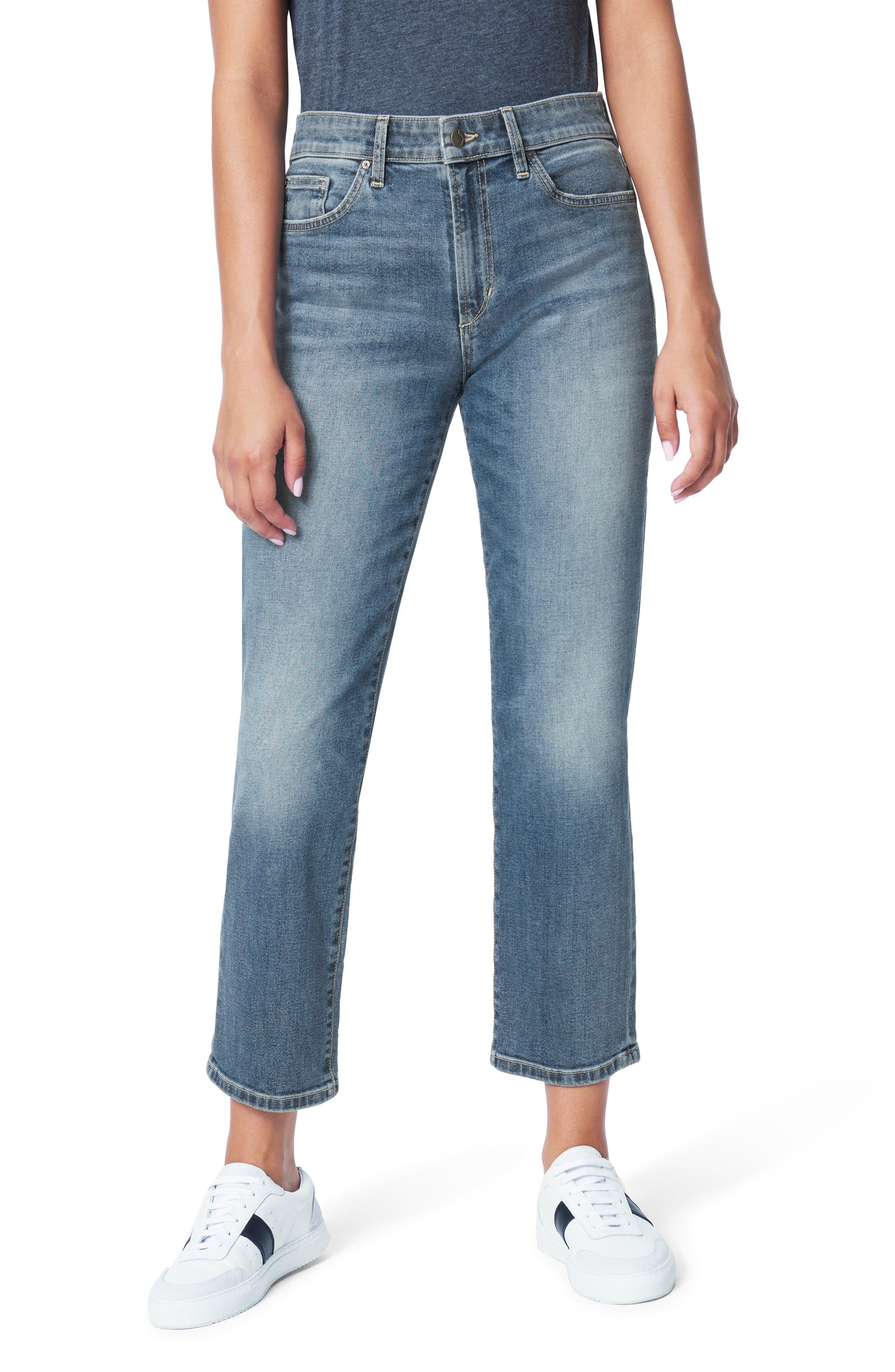 Women's Joe's The Scout High Waist Crop Straight Leg Jeans,  28 - Blue