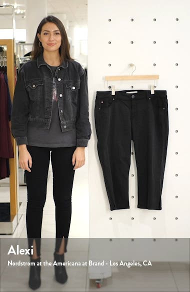Slit Hem Crop Straight Leg Jeans, sales video thumbnail
