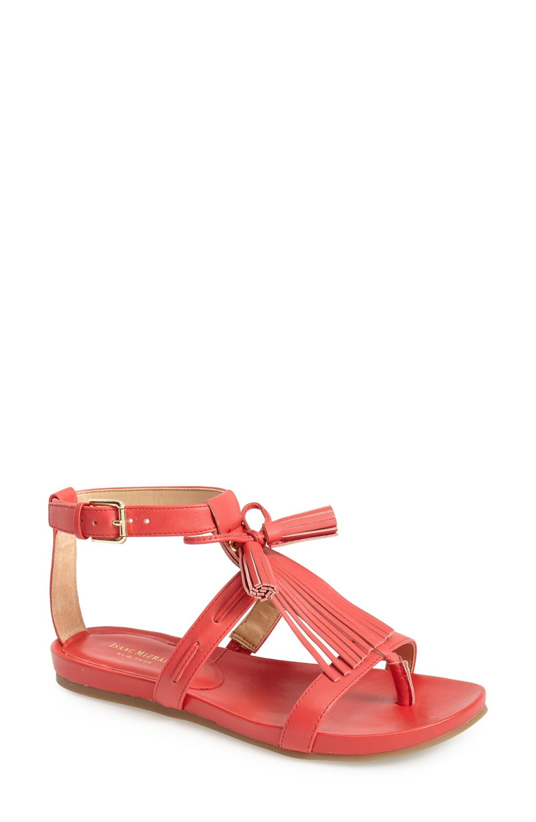 ,                             'Primp' Leather Fringe Sandal,                             Main thumbnail 5, color,                             610