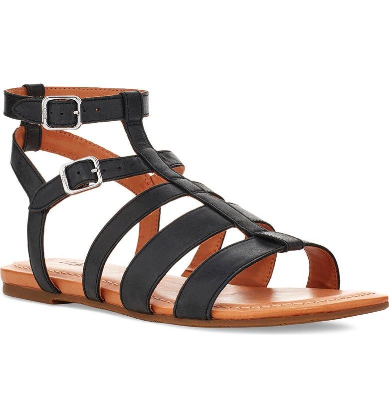 UGG<SUP>®</SUP> Mahalla Gladiator Sandal, Main, color, 001