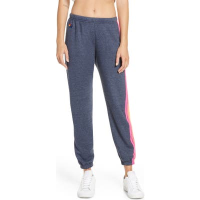 Aviator Nation Stripe Sweatpants, Blue