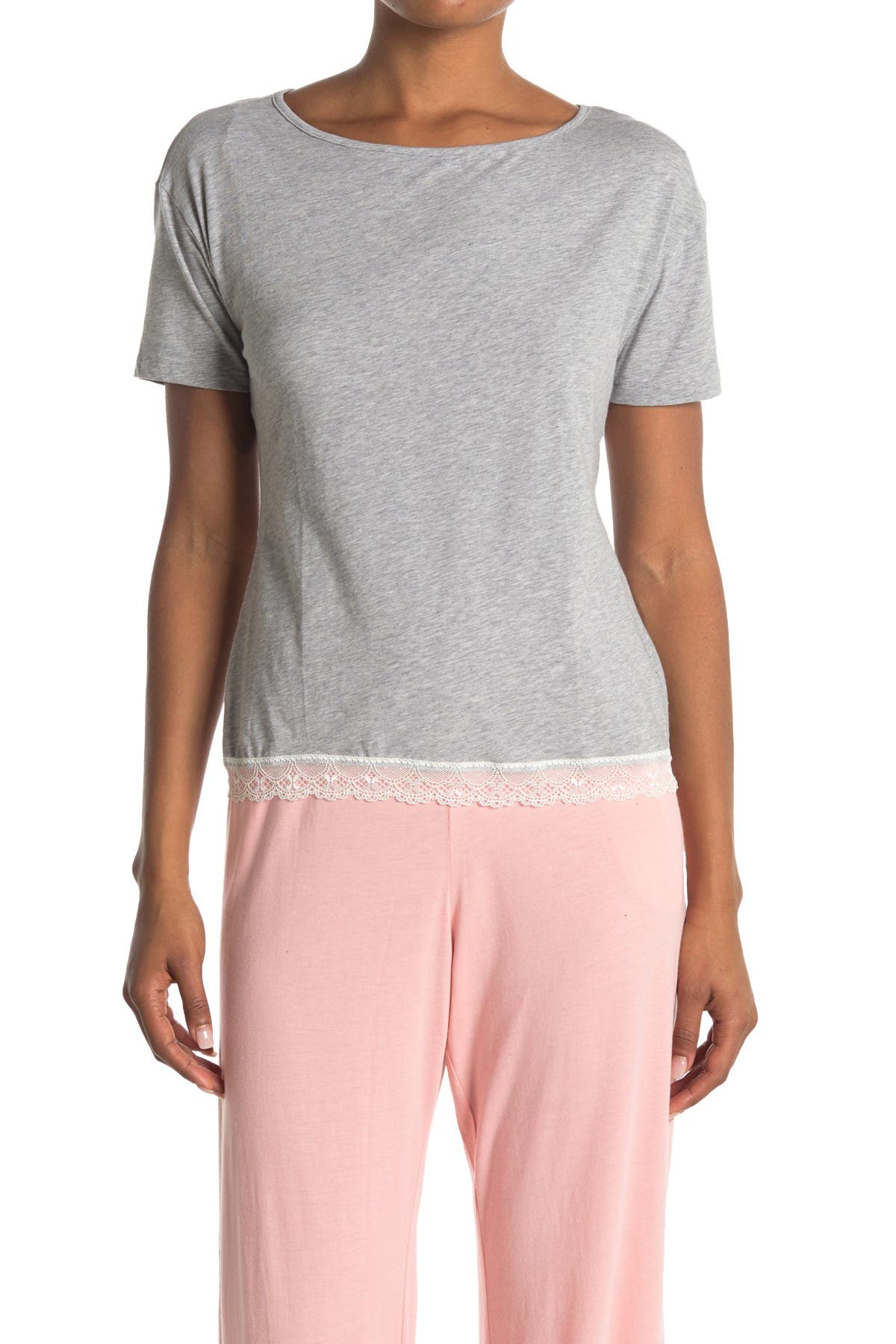 Image of Cosabella Majestic Lace Trim Pajama Shirt
