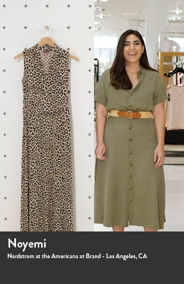 Nouveau Leopard Jersey Maxi Dress, sales video thumbnail