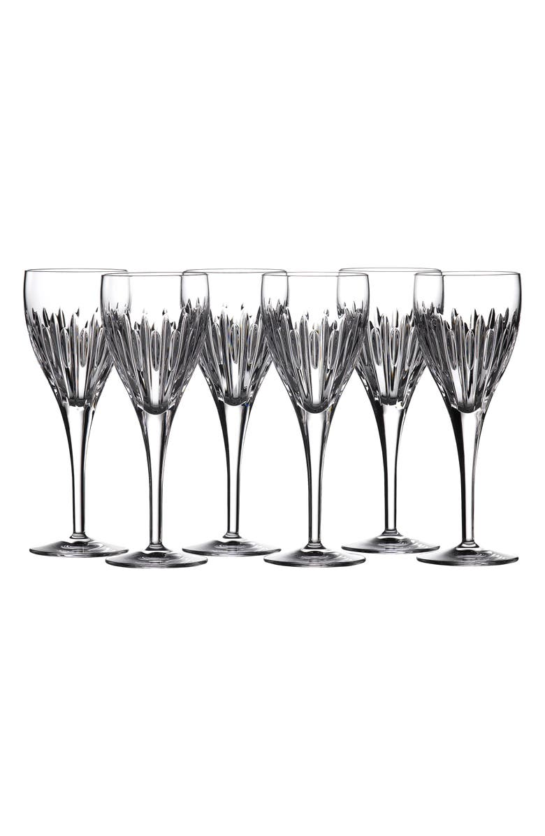 WATERFORD Mara Set of 6 Lead Crystal Wine Glasses, Main, color, CLEAR