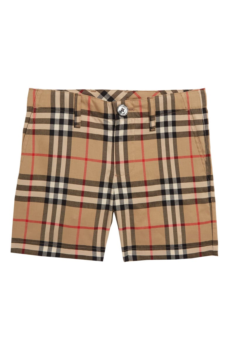 BURBERRY Tristen Check Shorts, Main, color, 250