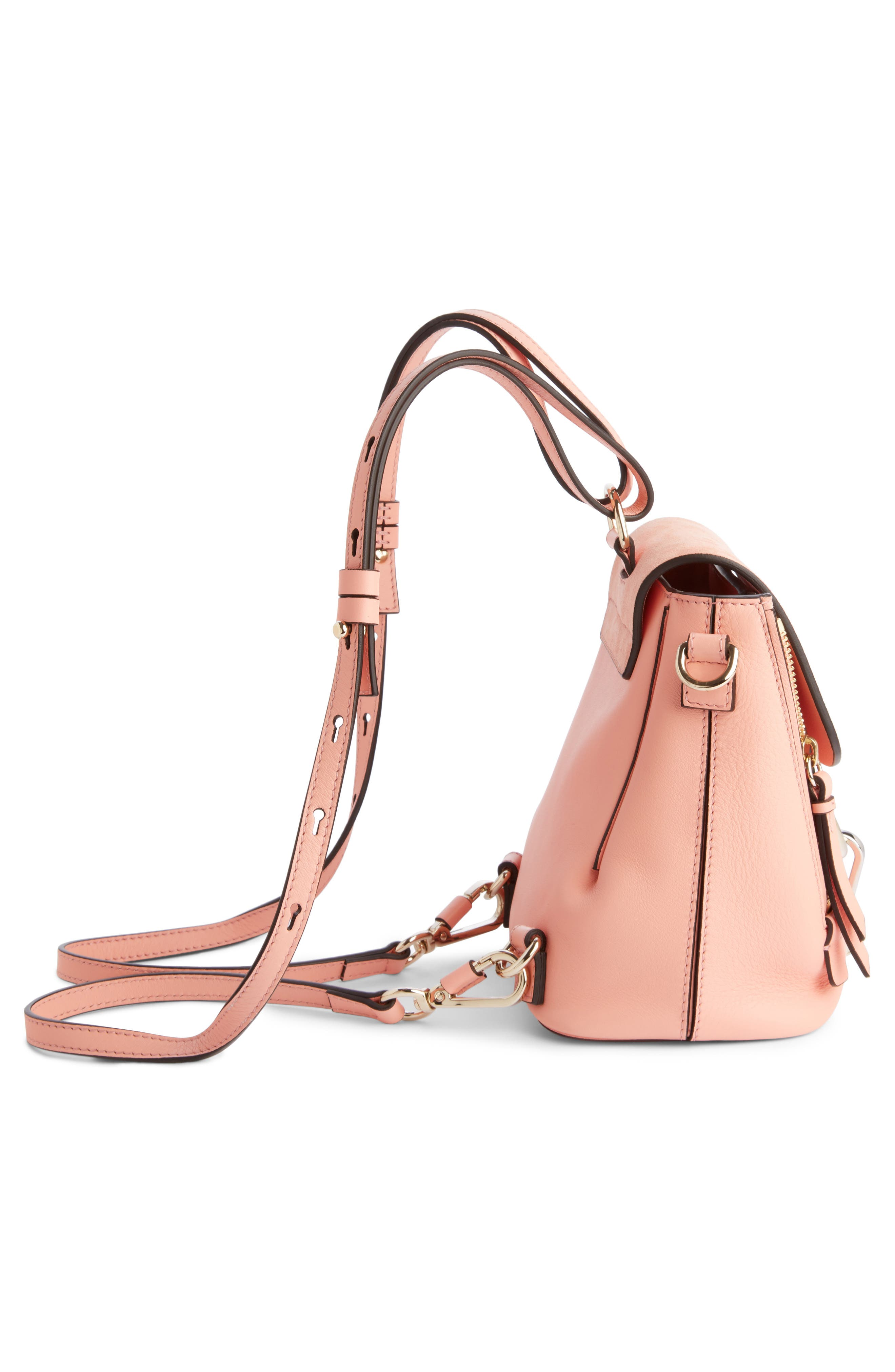 ,                             Mini Faye Leather & Suede Backpack,                             Alternate thumbnail 35, color,                             680