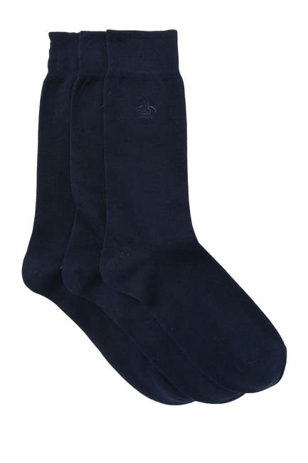 Image of Original Penguin Solid Crew Socks - Pack of 3