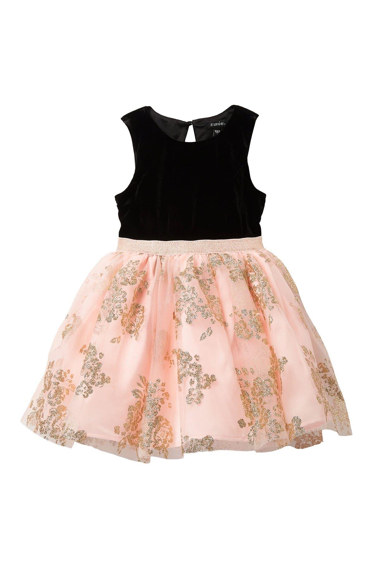 Image of Zunie Velvet Glittery Dress