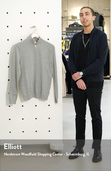 Classic Fit Quarter-Zip Mock Neck Sweater, sales video thumbnail