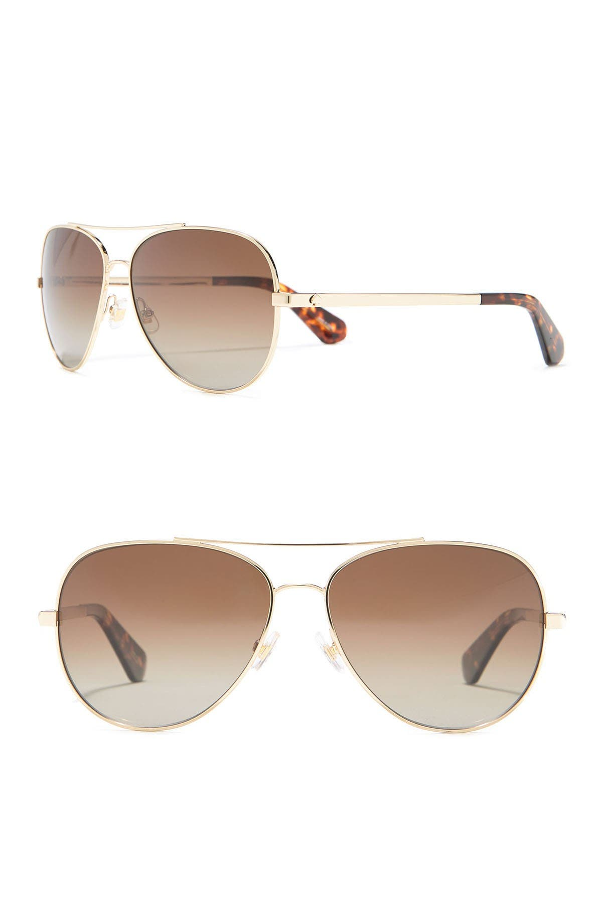 Image of kate spade new york avaline 58mm aviator sunglasses