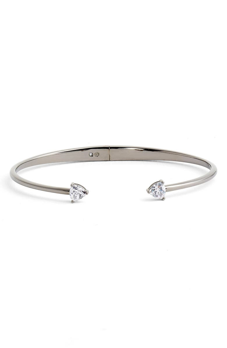 NADRI Arrow Cubic Zirconia Station Cuff, Main, color, 001