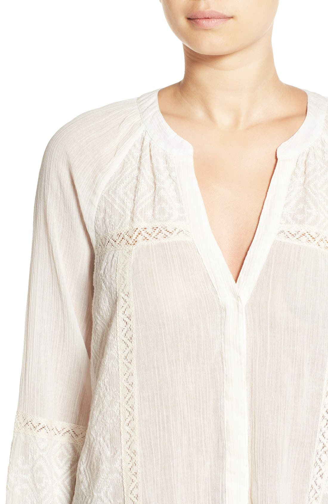 ,                             'Deandra' Embroidered Cotton Top,                             Alternate thumbnail 5, color,                             101
