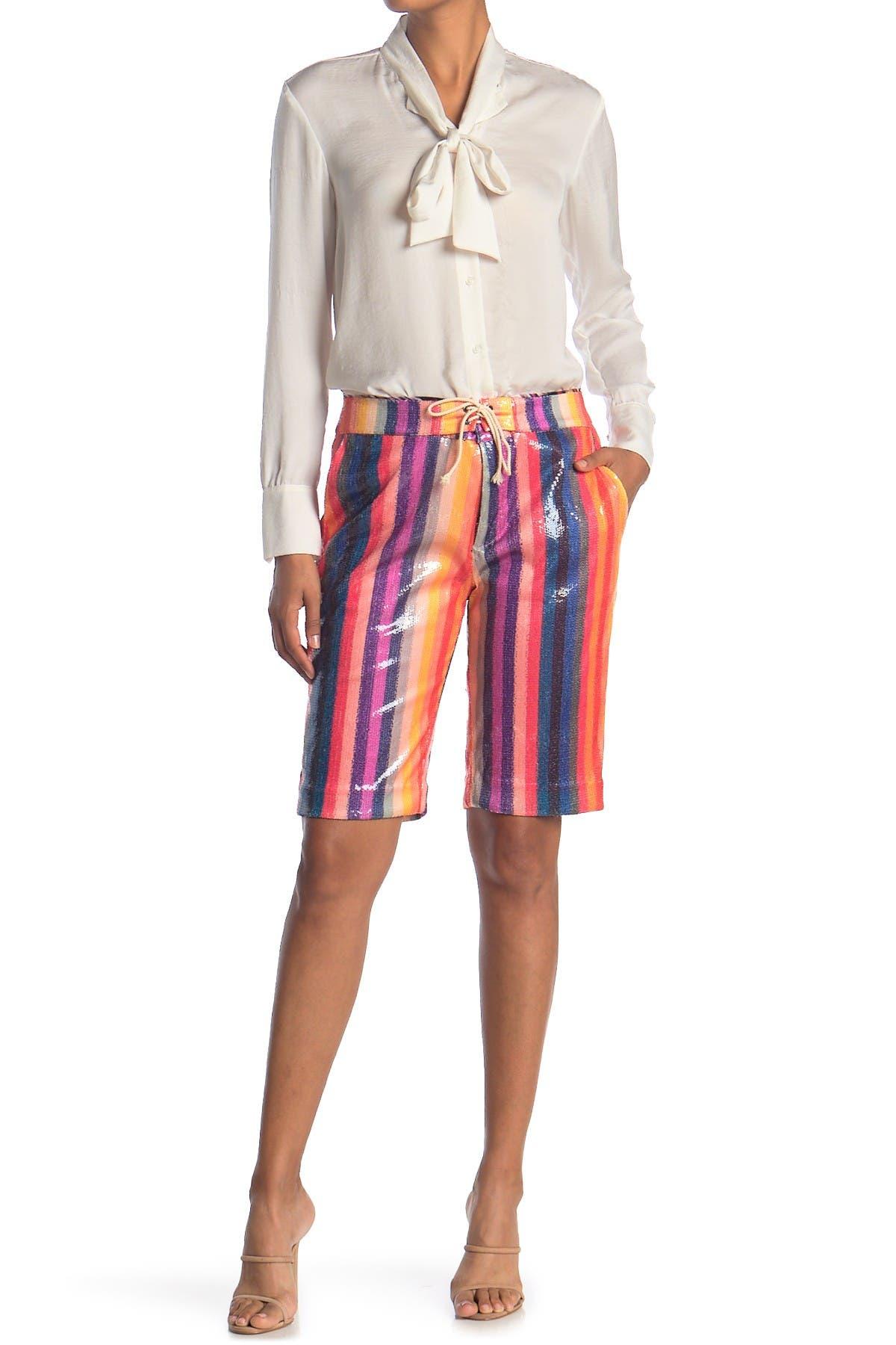 Image of LE SUPERBE Slater Shiny Bermuda Shorts