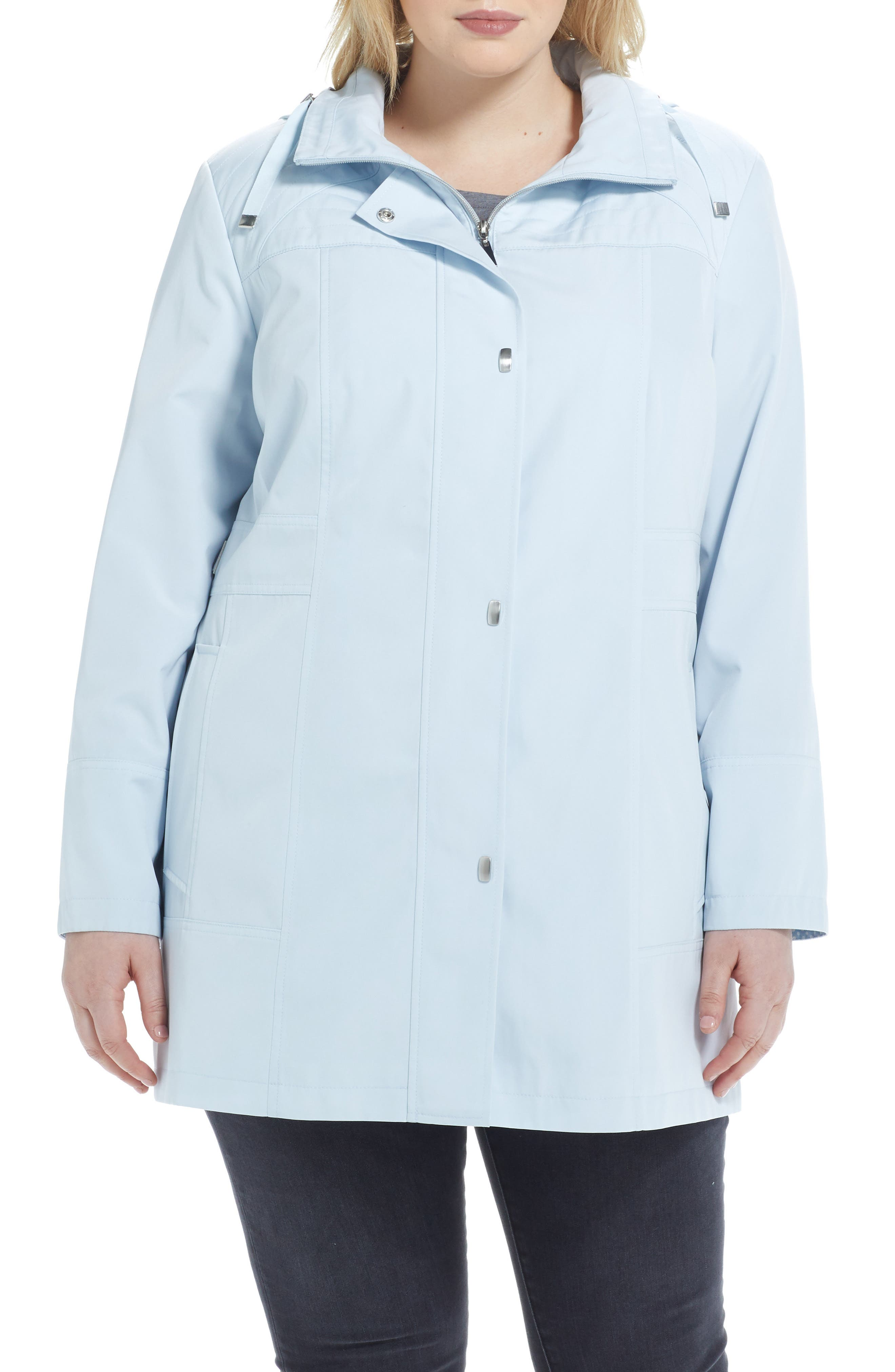 Raincoat With Contrast Lined Hood