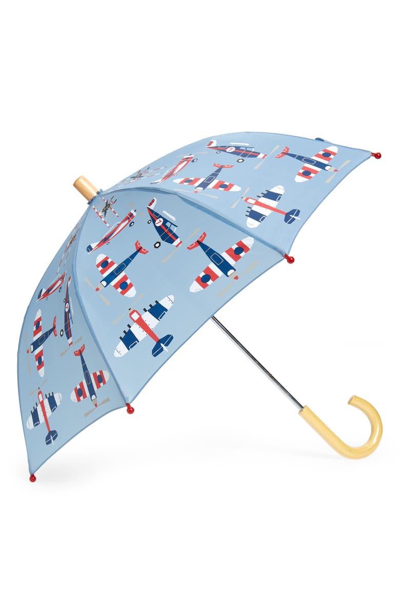 HATLEY Print Umbrella, Main, color, GRAY