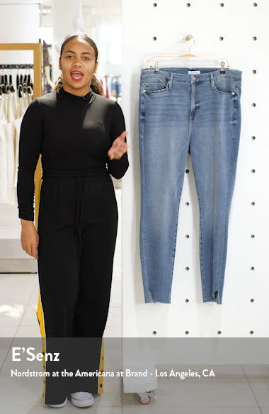 Good Legs High Waist Cascade Hem Skinny Jeans, sales video thumbnail