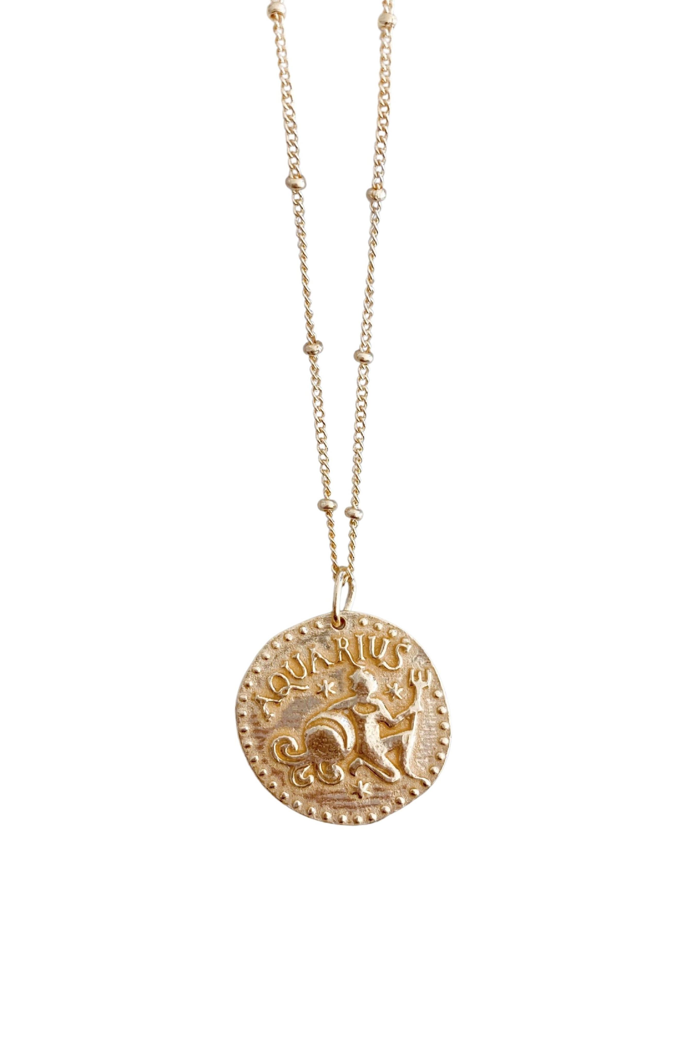 Sterling Silver Zodiac Pendant Necklace