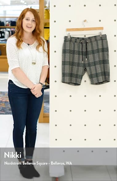 Plaid Drawstring Shorts, sales video thumbnail