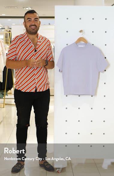 Felinara High Neck Short Sleeve Stretch Sweater, sales video thumbnail