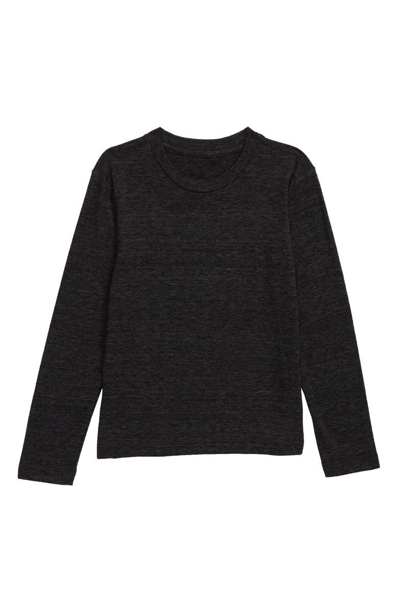 TUCKER + TATE Long Sleeve T-Shirt, Main, color, BLACK