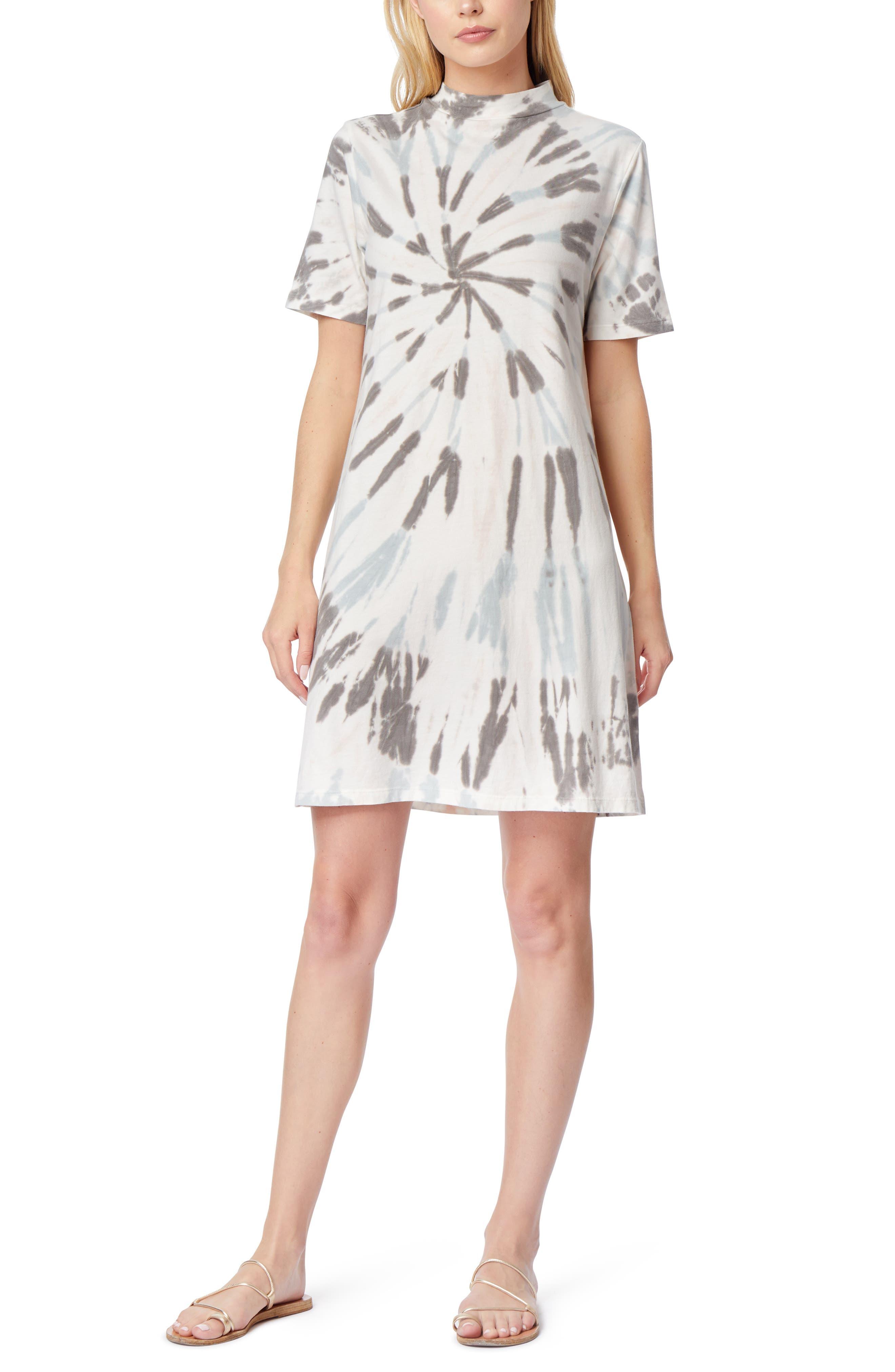 Bea Tie Dye Mock Neck T-Shirt Dress