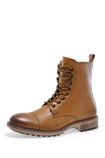Image of J75 By Jump Cylinder Cap Toe Lace Up Moto Boot