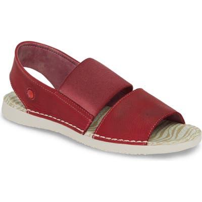 Softinos By Fly London Tai Slingback Sandal, Red