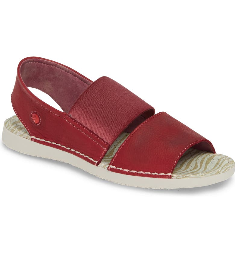 SOFTINOS BY FLY LONDON Tai Slingback Sandal, Main, color, RED LEATHER