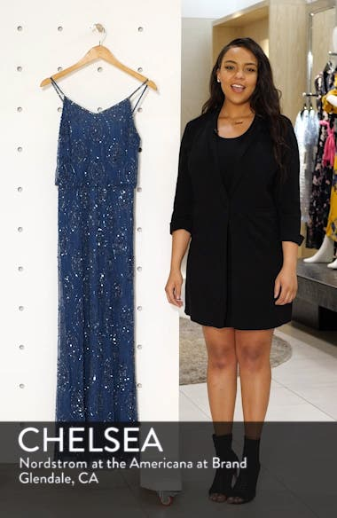 Bead Embellished Blouson Evening Gown, sales video thumbnail