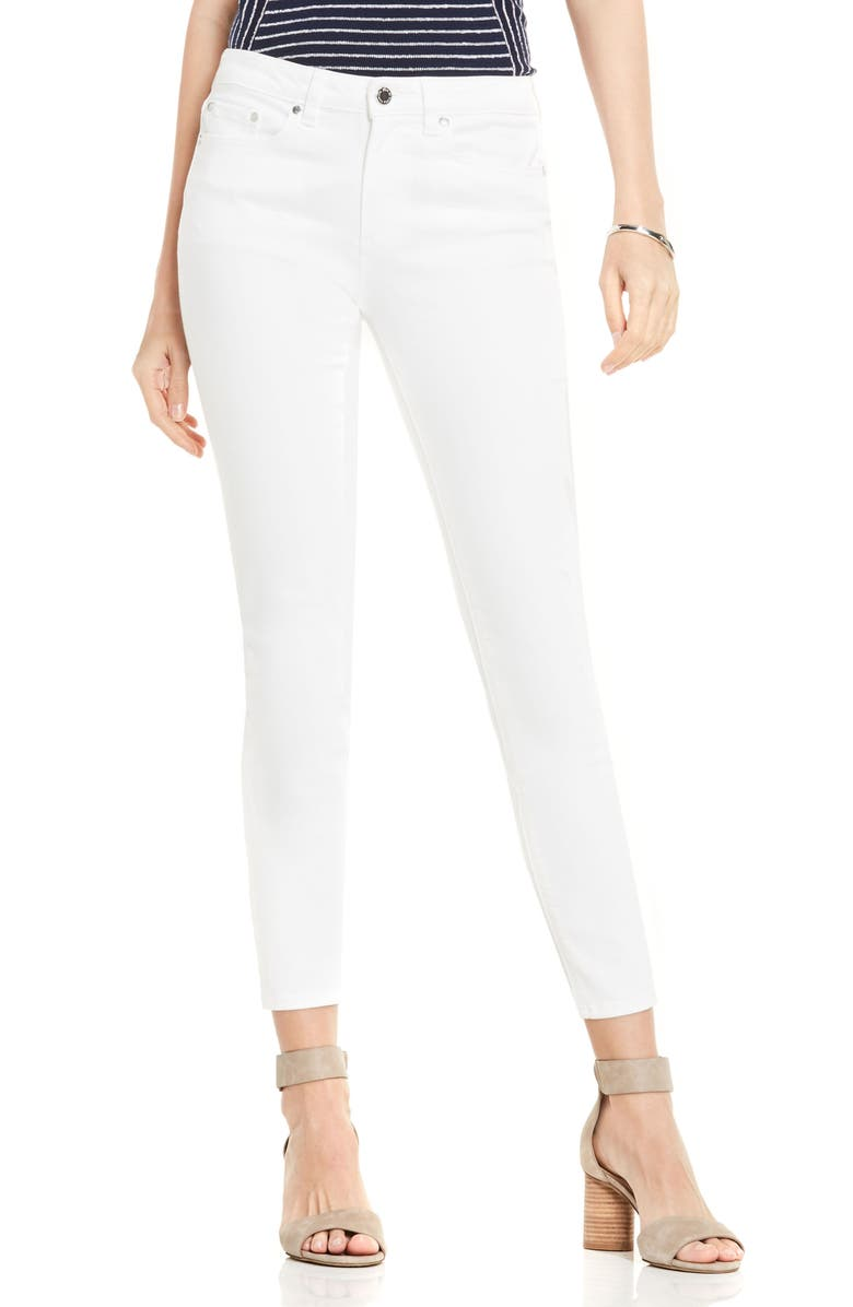 VINCE CAMUTO Skinny Jeans, Main, color, ULTRA WHITE