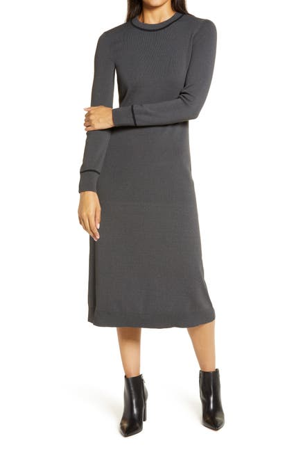 Image of Halogen® Long Sleeve Sweater Dress
