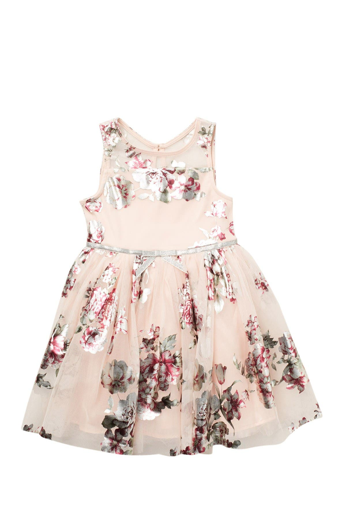 Image of Zunie Sleeveless Floral Party Dress