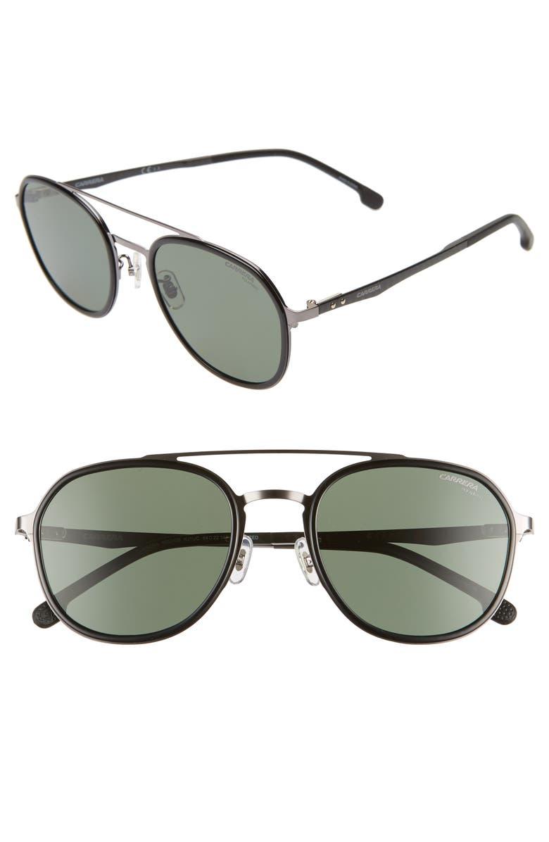 CARRERA EYEWEAR 54mm Polarized Round Sunglasses, Main, color, 034