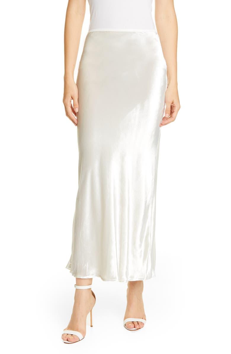 CULT GAIA Scarlett Velvet Skirt, Main, color, SALT