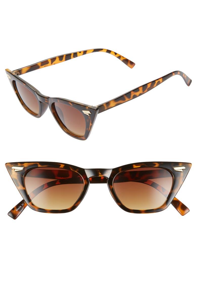 BP. 49mm Cat Eye Sunglasses, Main, color, TORT/ BROWN