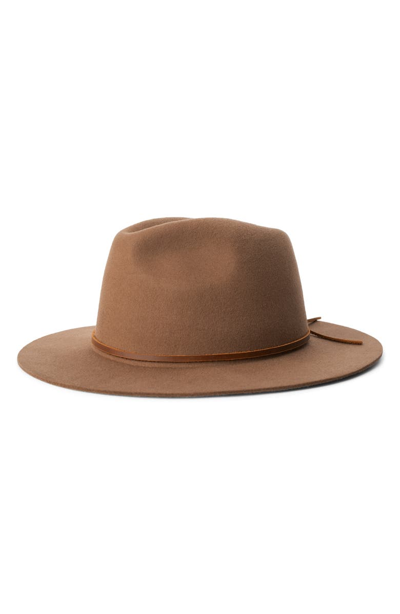 BRIXTON 'Wesley' Wool Fedora, Main, color, COCONUT