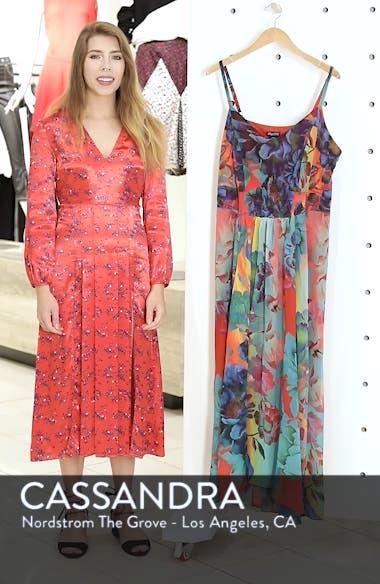 'Hot Summer Days' Print High/Low Maxi Dress, sales video thumbnail