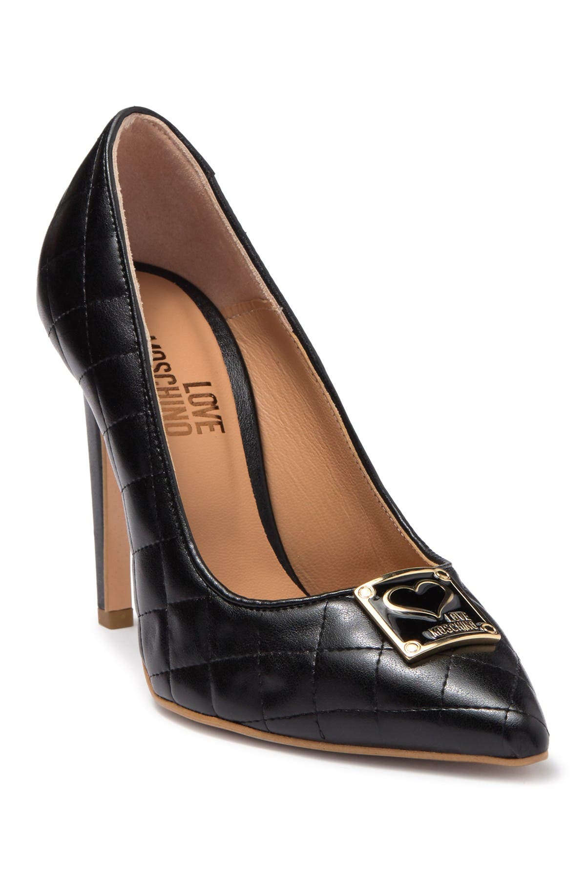 Image of LOVE Moschino Quilted Stiletto Pump
