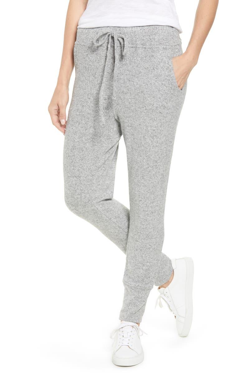 BOBEAU Cozy Jogger Pants, Main, color, H. GREY
