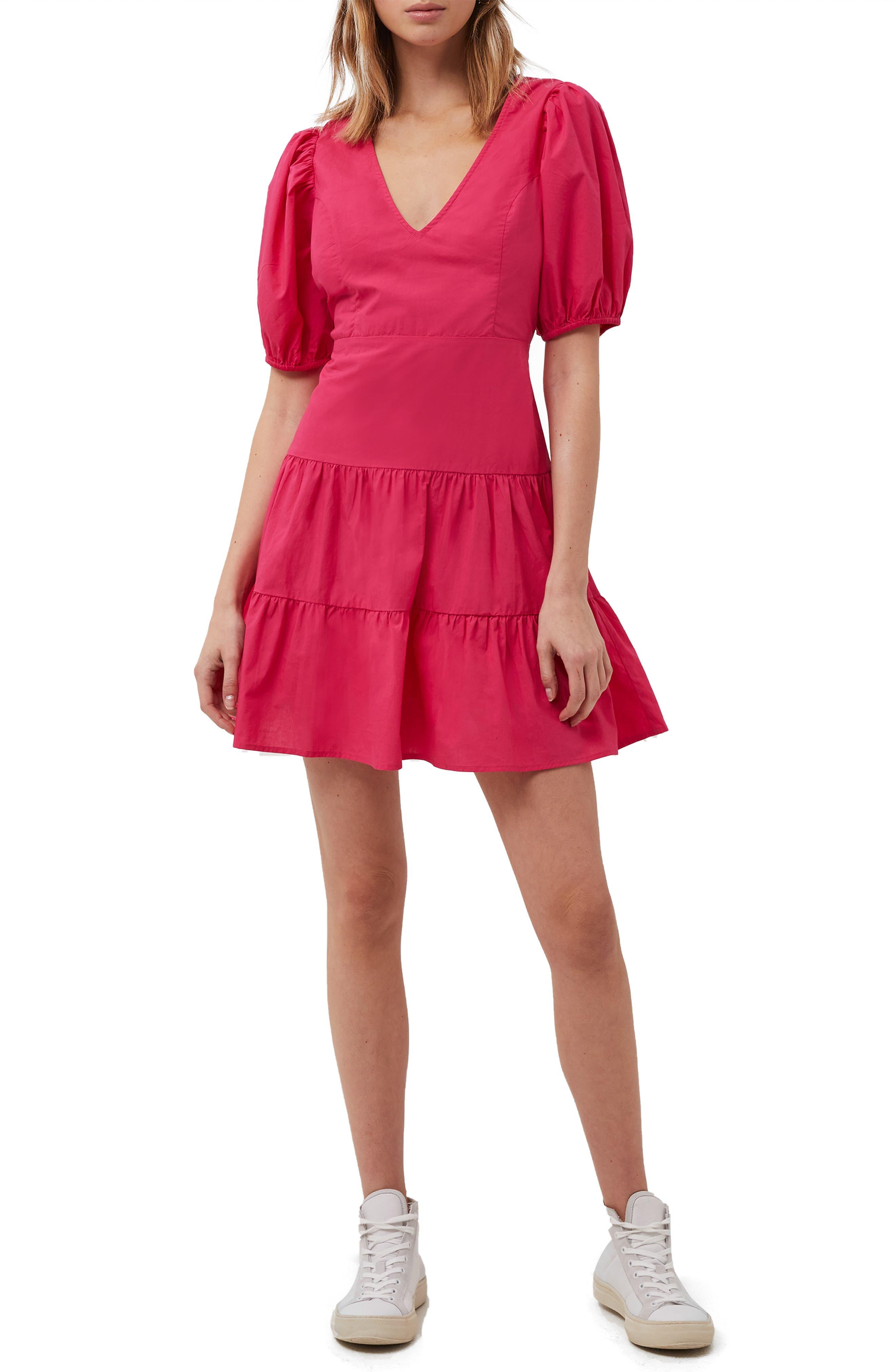 Birch Poplin Puff Sleeve Minidress