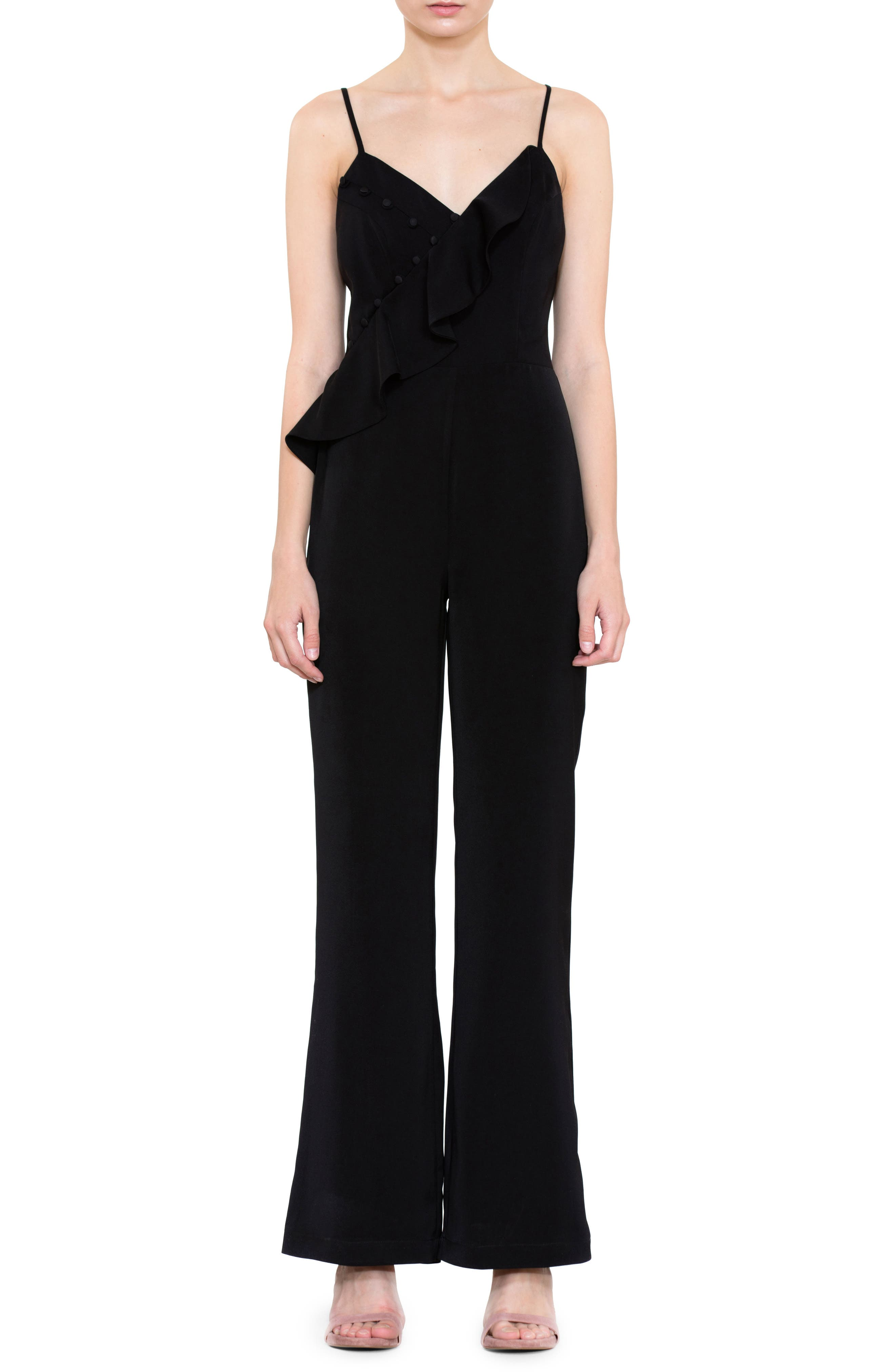 Image of Harlyn Button Detail Jumpsuit