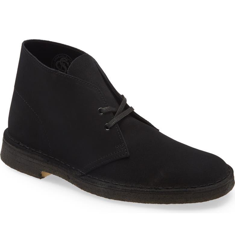 CLARKS<SUP>®</SUP> Originals 'Desert' Boot, Main, color, BLK SUEDE