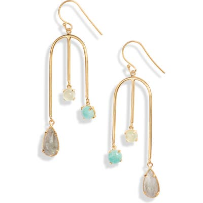Argento Vivo Semiprecious Stone Drop Earrings